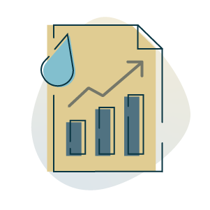 increased water bill icon