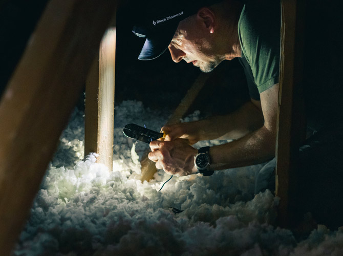 Man working in insulation